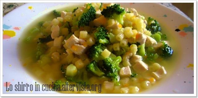 minestra pollo broccoli