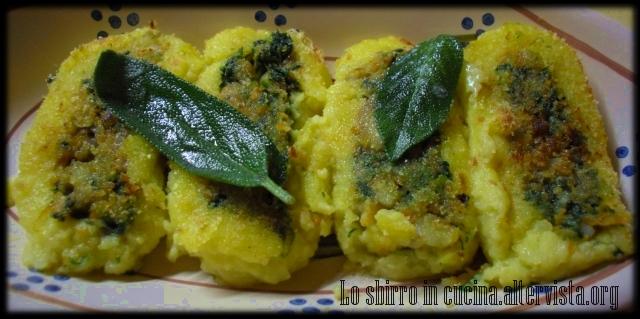 rotolo patate zucca spinaci