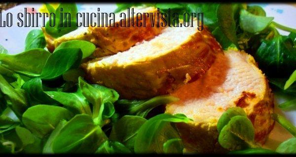 Petto di pollo marinato allo zafferano
