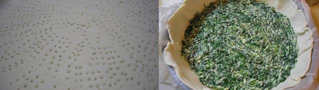 Stendete la pasta sfoglia in una teglia rotonda