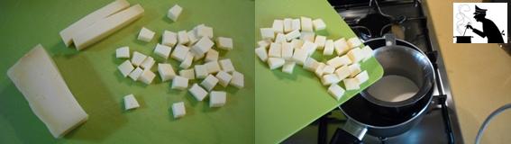 Gnocchi di zucca in crema di montasio