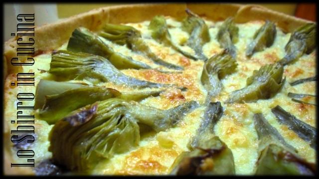 Torta salata Carciofi, patate e champignon