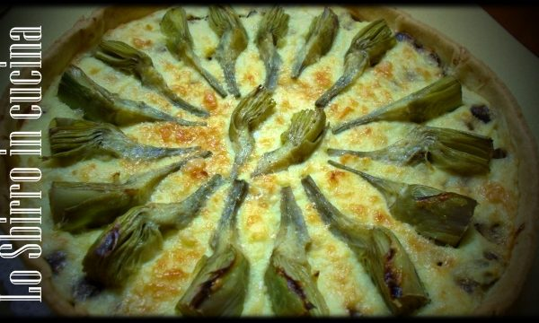 Crostata Carciofi, patate e champignon