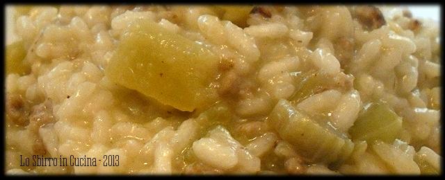 risotto cardi e salsiccia