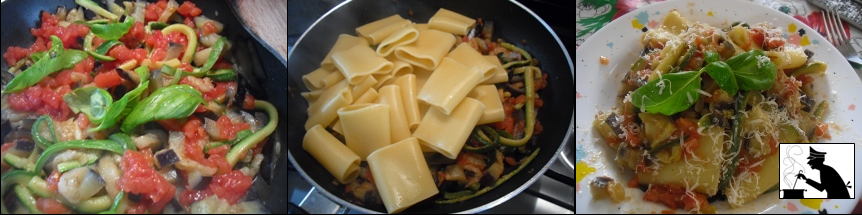 pasta zucchine e melanzane