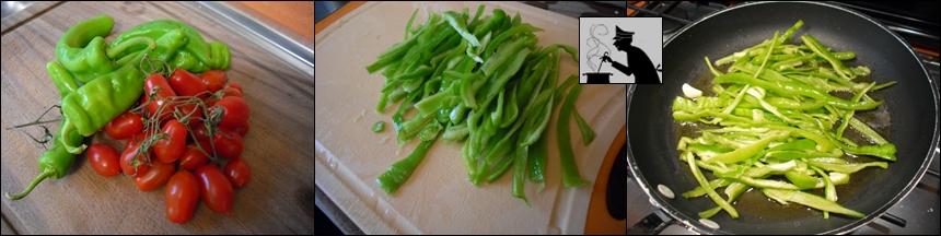 Pasta con i peperoncini verdi1