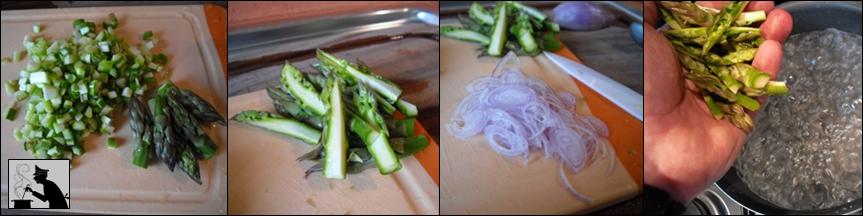 penne cremose con asparagi