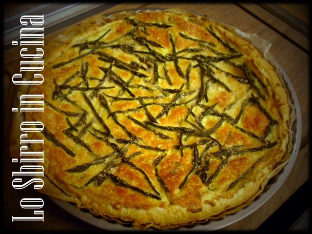 Torta salata di asparagi e mandorle