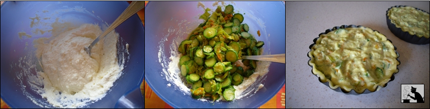 mini quiche con zucchine in fiore