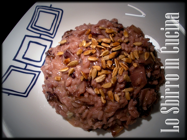 risotto al radicchio con gorgonzola/