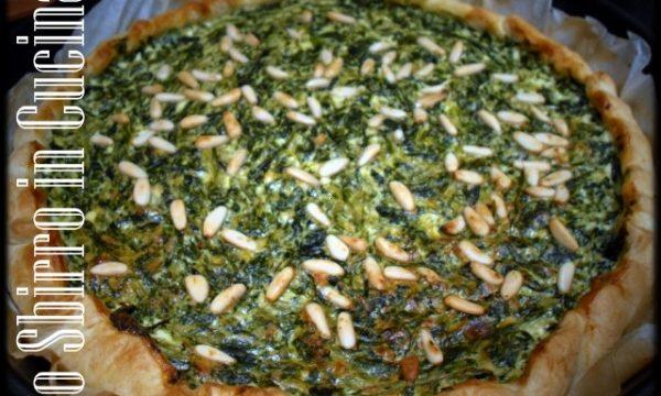 Torta salata di bietole, pinoli e gorgonzola