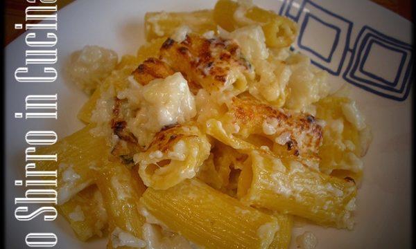 Pasta gratinata con cavolfiore e gorgonzola