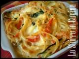 Frittata di spaghetti con verdure