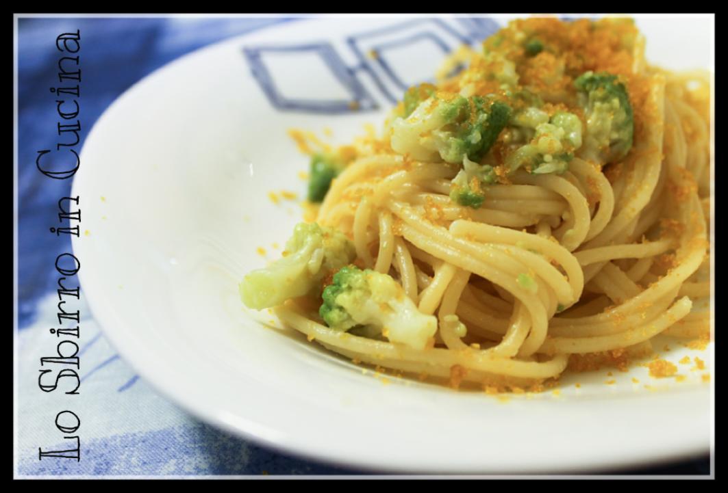 Spaghetti con bottarga e cavolo romano